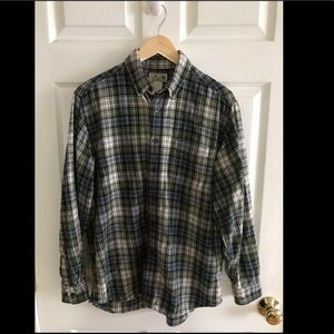 L L bean button down shirt plaid size M